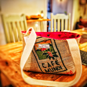 Upcycled Coffee Bean sack shopper