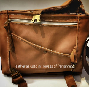 Your style medium sized leather shoulder bag featured in BBC Money For Nothing