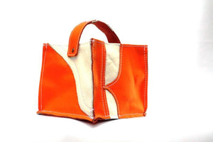 Leather Tidy Limited Edition Orange & White small