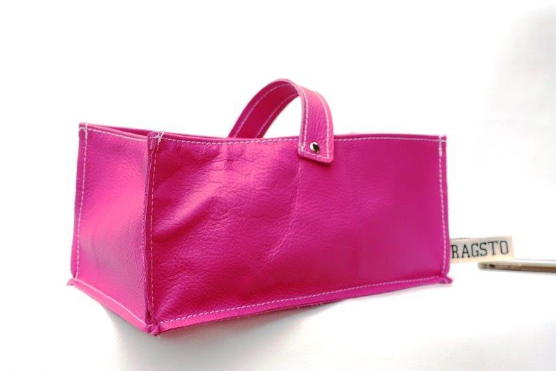 Leather Tidy Limited Edition Pink large
