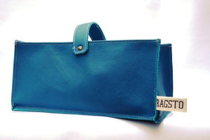 Leather Tidy Blue Teal large