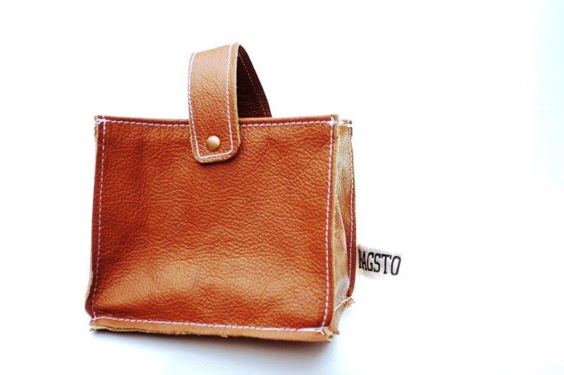 Leather Tidy Brown small