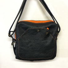 Load image into Gallery viewer, Special Edition Black & Orange leather Shoulder bag