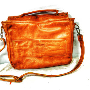 Upcycled Laptop or briefcase style shoulder bag