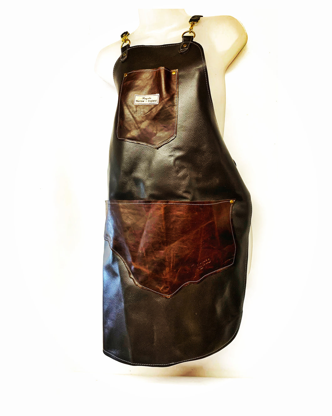 Leather Upcycled Apron