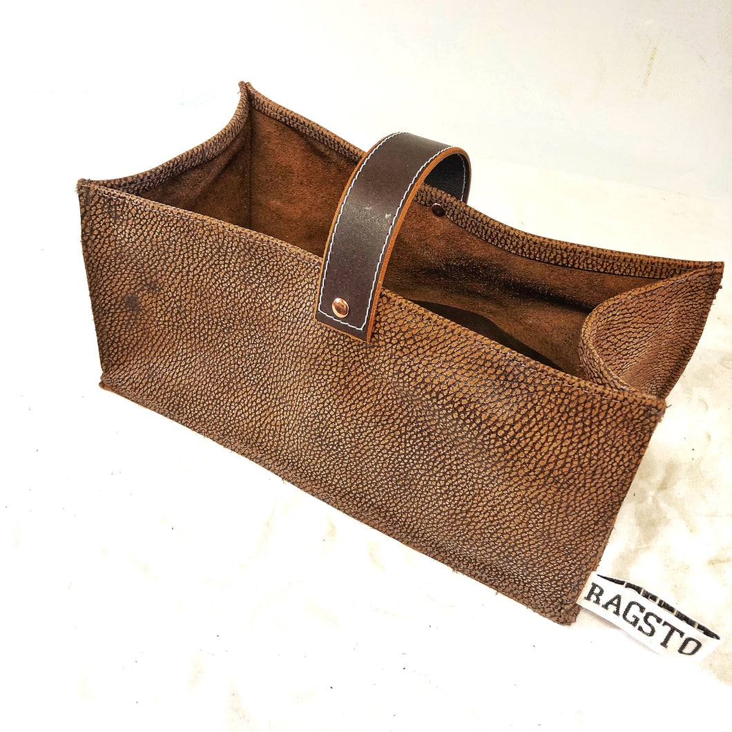 Leather Tidy Limited Edition Antelope leather in speckled brown large