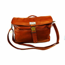 Load image into Gallery viewer, Upcycled Laptop or briefcase style shoulder bag