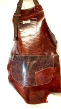 Load image into Gallery viewer, Leather Upcycled Apron