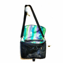Load image into Gallery viewer, Upcycled leather shoulder bag
