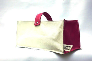 Leather Tidy Limited Edition Pink & White large