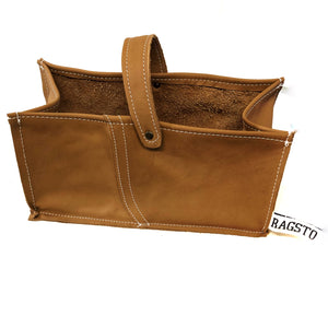 Leather Tidy Brown large