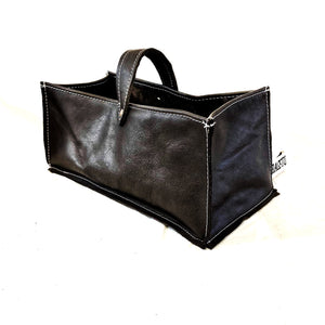 Leather Tidy Black large