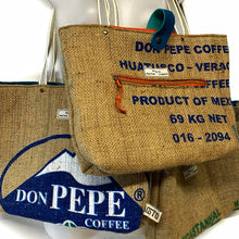 Load image into Gallery viewer, Upcycled Coffee Bean sack Tote Bag