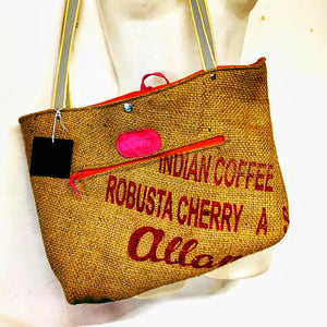 Upcycled Coffee Bean sack Tote Bag