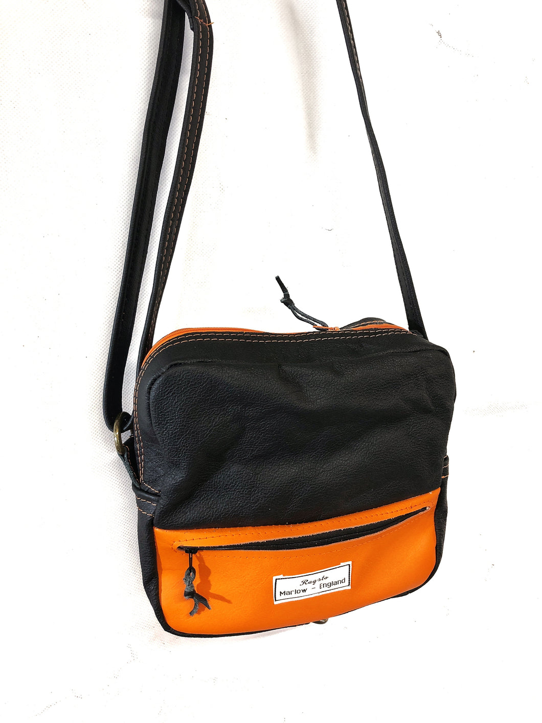Special Edition Black & Orange leather Shoulder bag
