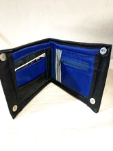 Load image into Gallery viewer, Ragsto Black & Blue Leather Wallet