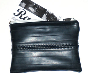 Upcycled zipped pouch