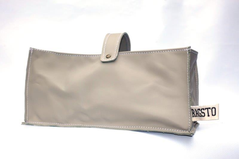 Leather Tidy Light Grey large