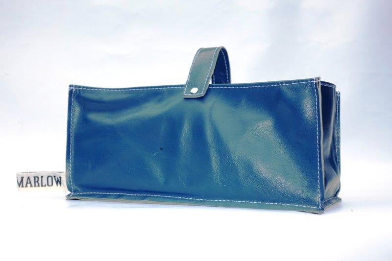 Leather Tidy Navy Blue large