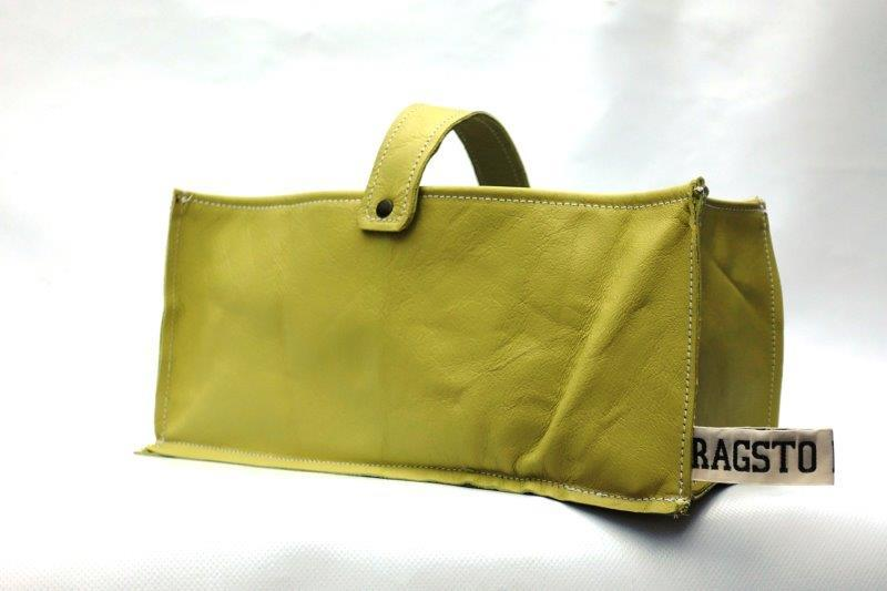 Leather Tidy Pastel Yellow large