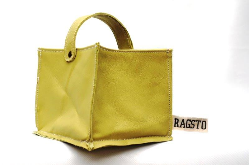 Leather Tidy Pastel Yellow small