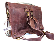 Load image into Gallery viewer, Raw Leather Satchel choose your colour (regular size)