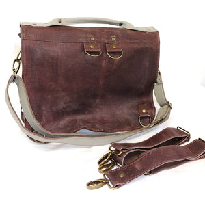 Raw Leather Satchel choose your colour (regular size)
