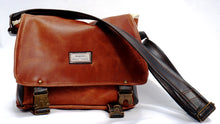 Load image into Gallery viewer, Upcycled medium sized leather shoulder bag