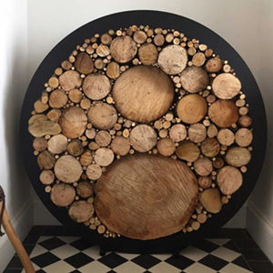 Porte-bûches design rond / Design circular Log holder