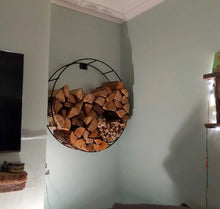 Load image into Gallery viewer, Porte-bûches circulaire / Circular wire Log holder
