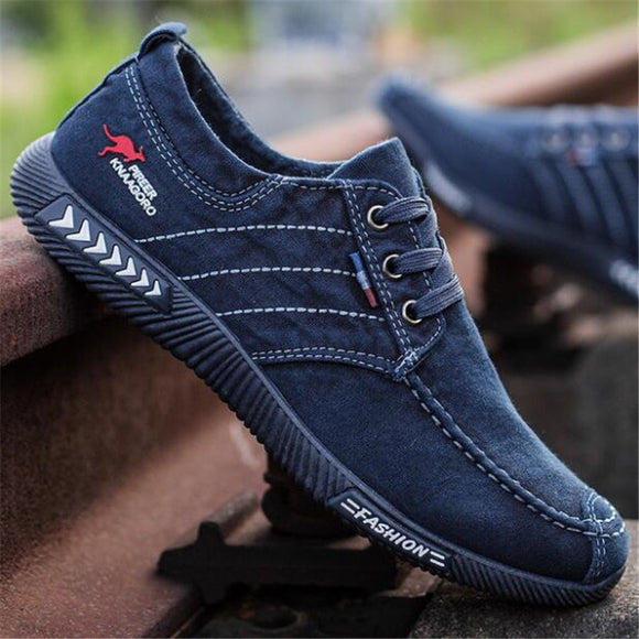 DIWEINI Canvas Men Shoes Denim Lace-Up Men Casual Shoes New 2019 Plimsolls Breathable Male Footwear Spring Autumn