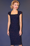 Celebrity in Navy with Red Dots