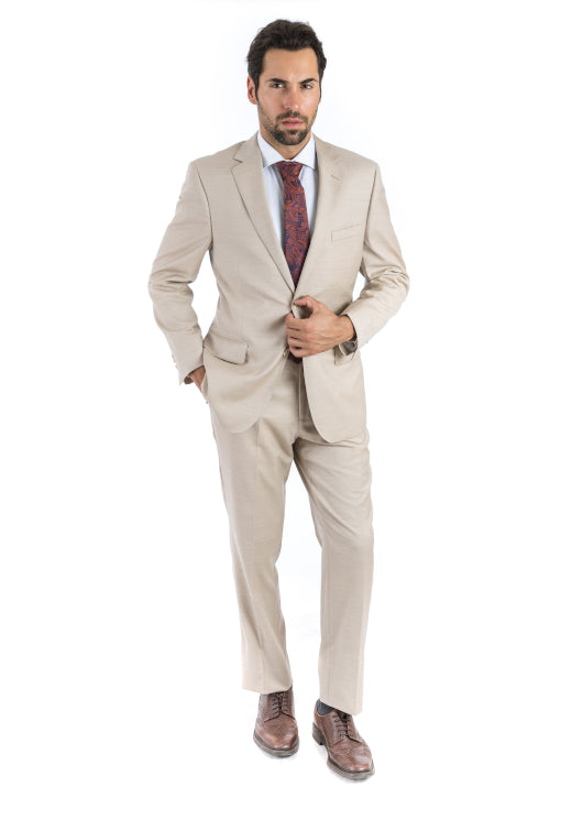 Modern Fit Beige Suit