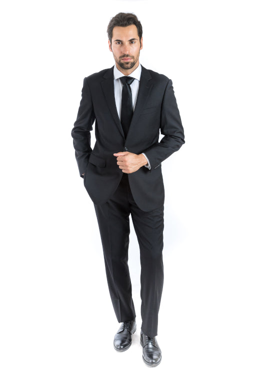 Modern Fit Black Suit