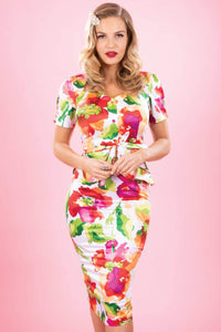 Faith Floral Fitted Dress by Stop Staring!