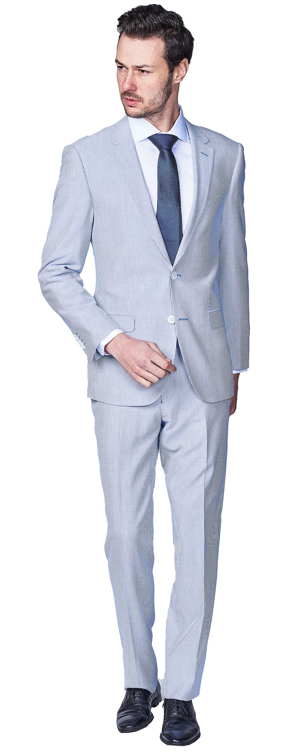 Slim Fit Seersucker Suit
