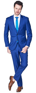 Slim Fit French Blue Suit