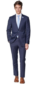 Slim Fit Solid Navy Suit
