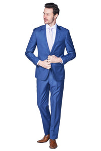 Slim Fit Royal Blue Suit