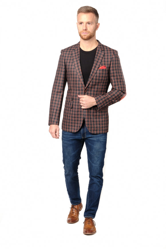 Box Check Slim Fit Sport Jacket