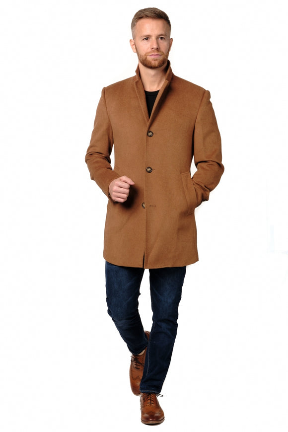 Dark Camel Overcoat