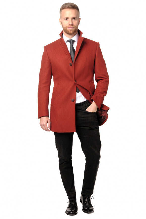 Burnt Orange Overcoat