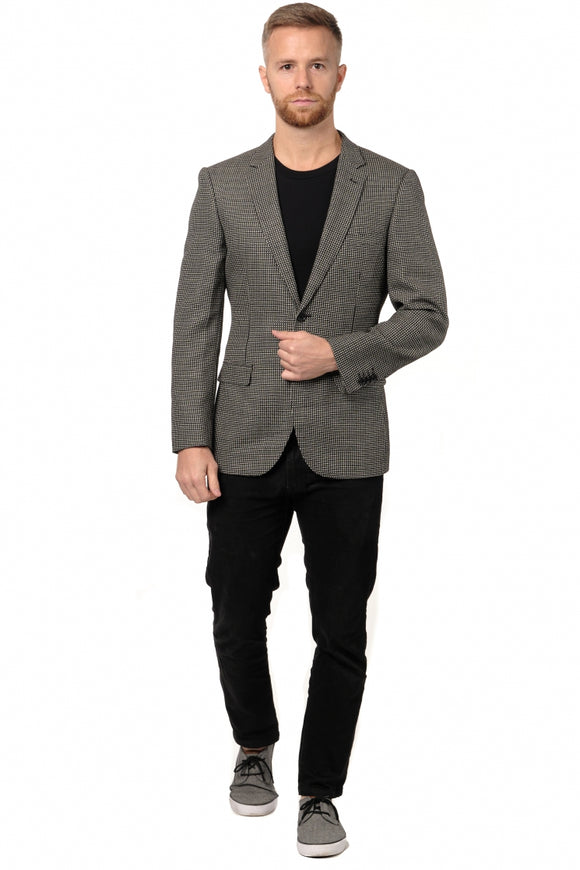 Black & White Slim Fit Sport Jacket