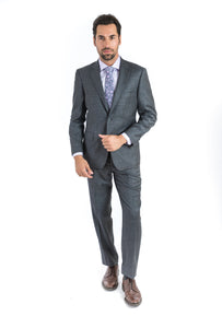 Grey Microbox Classic Fit Suit