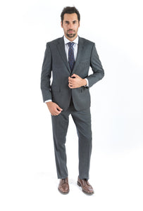 Grey Nailhead Classic Fit Suit