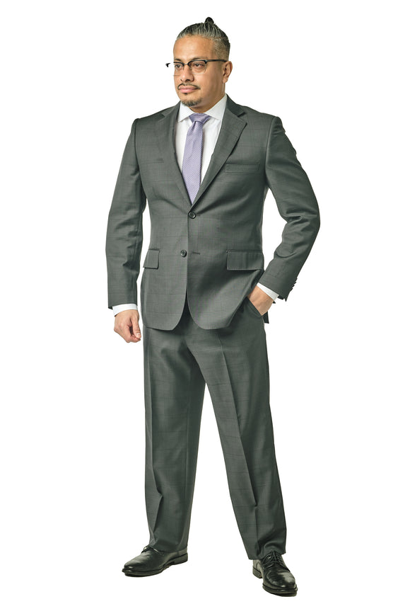 Charcoal Check Classic Fit Suit