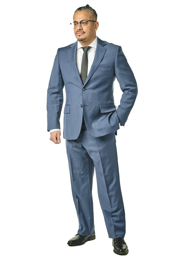 Blue Check Classic Fit Suit