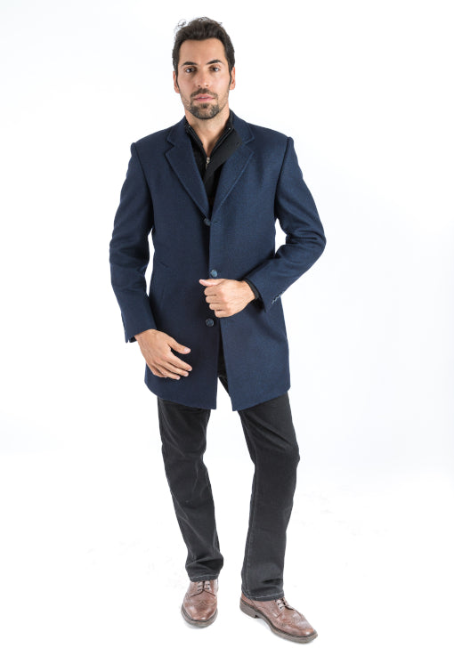 Navy Surprise Overcoat