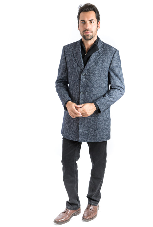 Black Riches Classic Fit Overcoat