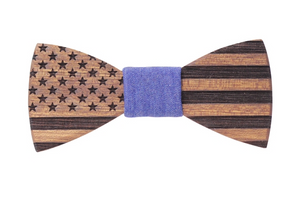 Stars & Stripes Handmade Wooden Bow Tie